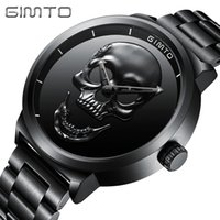 Punk Creative Skull Black Men Watches GIMTO Stylish Waterpro...
