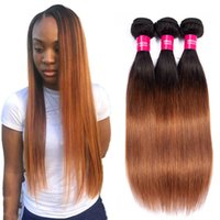 Two tone 1b 30 Human Straight hair Ombre human hair 3 4 bund...