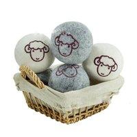 Печать Wool Felt Сушилки Прачечной шарики для умягчения Шары 6сма 7сма Sheep Star Адаптировать шаблон войлочной шерсти Шаровой Помощь Сухой Одежда