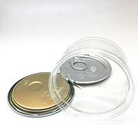 Lattine intelligente Bud Dry Flower Tin etichette personalizzate 3.5Grams plastica trasparente vaso di imballaggio box anti dispersione Smell prova Presstin Can in magazzino