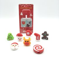 Weihnachtsschneemann-Biss Telefon-Halter-Organisator Modell für Telefon Weihnachts Kabel Beißen Cartoon-Telefon-Kabel USB-Datenleitung Schutz DH0365 T03