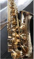 العلامة التجارية المشتري JAS 1100SG ألتو ساكسفون النيكل الجسم الذهب مفتاح E-مسطحة الآلات الموسيقية إب ساكس شحن مجاني