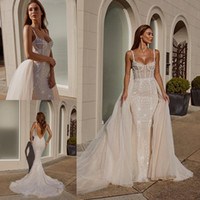 2020 Pallas Couture Mermaid Wedding Dress With Detachable Tr...
