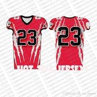 Top Custom Football Jerseys Mens Stickerei Logos Jersey Freies Verschiffen billig Großhandel jeder Name eine beliebige Anzahl Größe S-XXXLbae