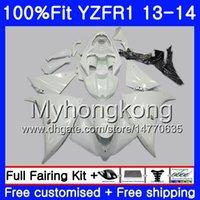 Corpo da injeção para YAMA YZF 1000 YZF R 1 YZFR1 2013 2014 estoque Branco Pérola 242HM.9 YZF-1000 YZF R1 YZF1000 YZF-R1 13 14 Kit Carenagem Completa