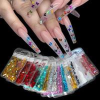 Голографическая бабочка Форма Nail Art Блеск Micro Laser Star Хлопья 3D Серебро Золото Блестки польский Маникюр украшения ногтей