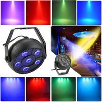 Luz de escenario LED Sonido Activo Automático Par Light 6 Led RGB Par Lámpara 9W Disco Luces láser Disco de boda Lámpara de escenario Disco Bar