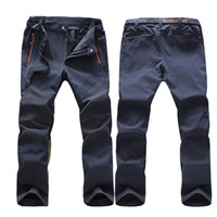 JACKSANQI Pantaloni estivi da uomo Softshell Quick Dry Sport all'aria aperta Pantaloni impermeabili Trekking Escursionismo Arrampicata Ciclismo 5XL RA012