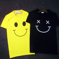 0576230d4 Desgin men's T-shirt-New T-shirt Summer new loose simple set of smiley face  printed short-sleeved round neck Lycra cotton female T-shirt -