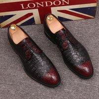 2019 новых людей бизнеса Оксфорд натуральная кожа платье обувь BROGUE Узелок Flats Мужской Повседневная обувь дышащая вечернее платье