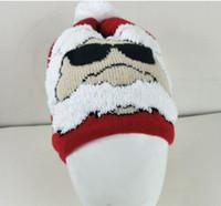 Santa Claus de punto de la decoración del partido de Navidad sombrero sombreros de invierno de punto Beanie cráneo gorros de lana de moda casquillo caliente GGA2707
