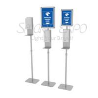 Hand Sanitizer-Dispenser-Standautomatischer, berührungsloser Hand Sanitizer-Dispenser- und Handseifenspenderständer mit Information Anzeigetafel