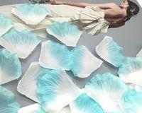 Синий белый искусственный шелк розы лепестки свадебные аксессуары пользу партии событие украшения