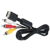 1.8 м RCA TV аудио к 3rca адаптер кабель AV кабель аудио видео кабель для Sony Playstation 2 3 PS2 PS3 мультимедиа 1000 шт.