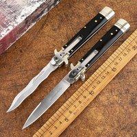 hızlı açık alan sağkalım aracı açık taktik av katlama bıçağı açık hayatta kalanlar katlama İtalya 9 inç mafya otomatik bıçak