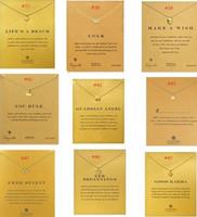 Новый Dogeared колье ожерелье с карты Золотой круг слон Перл любовь Крылья кулон ожерелья Для женщин ювелирные изделия 120 стили