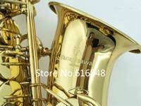 ياناجيساوا A-901 جودة عالية ألتو إب لحن صك الموسيقى ساكسفون النحاس الذهب ورنيش السطح مع حالة المعبرة مجانية
