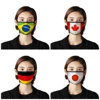 Nationalflagge Staubdichtes Gesicht Mund Masken Waschbar Aspiratoren Tuch Verbandsmull Earloop faltbare Mascherines US Japan Deutschland 2 7BR UU9