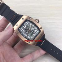 Лучшие часы 67-01 Автоматические Extra Flat Miyota Автоматические механические мужские часы Корпус из розового золота с циферблатом с каучуковым ремешком Мужские спортивные часы