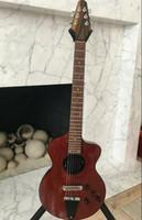Nuovo Rick Turner Modello 1-C-LB Lindsey Buckingham Borgogna Brown semi vuota della chitarra elettrica corpo nero Binding, 5 pezzi laminato manico in acero