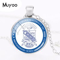 New Phi Beta Sigma Fraternity Necklace Glass Dome Cabochon P...