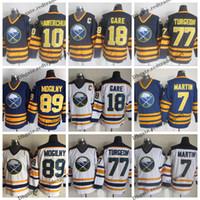 Vintage Buffalo Sabres 7 Rick Martin 18 Danny Gare 77 Pierre Turgeon 10 DALE HAWERCHUK 89 ALEXANDER MOGILNY Hokey Formaları