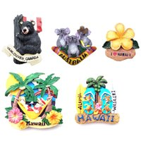 Fridge Magnets World Travel Souvenirs Home Decoration US UK Canada Australia Greece Portugal Spain Barcelona Madrid  3D