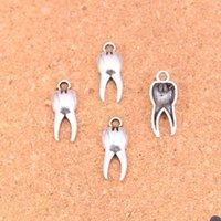 175ピースチャームゾンビの歯の歯の臼歯のアンティークシルバーメッキペンダントDIY手作りチベットシルバージュエリー20 * 8mm