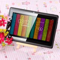 7 pouces 8 Go ROM A33 Quad Core Tablet PC Q8 Allwinner Android 4.4 Capacitif 1.5GHz 512 Mo de RAM WIFI Bluetooth caméra double lampe de poche Q88