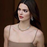 Gothic ожерелье Урожай металл Ссылка цепь Чокеры ожерелье для женщин Панка ювелирных Femme Choker ожерелье золота цепного гот Bijoux 2020