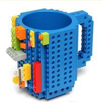 Drinkware Building Blocks Tazas de bricolaje bloque 350 ml Taza del rompecabezas Construir-en el ladrillo creativo tazas de café Copa YYA50
