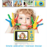 Детская мини цифровая камера 2-дюймовый мультфильм милый малыш камеры игрушки детский день рождения подарок 1280P малыша игрушки камеры