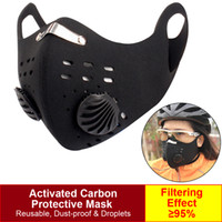 Sport Face Mask With Filter Activated Carbon PM 2. 5 Anti- Pol...