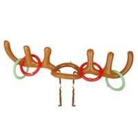 200 unids divertido reno asta sombrero anillo anillo de Navidad fiesta de vacaciones juego suministros de juguete niños niños niños juguetes de navidad