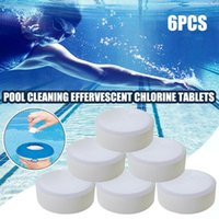 6Pcs box Pool Cleaning Effervescent Chlorine Tablet Multifun...