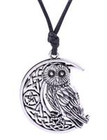 Vintage Supernatural Wicca Moon Star ciondolo svuotato carino gufo collana animale nodo irlandese vichingo gioielli amuleto
