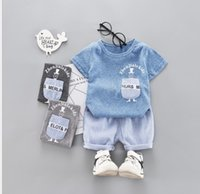 Little Kids Sets 1T- 4T Childrens O- neck T- shirt Short Pants ...