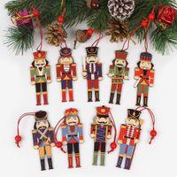 3шт деревянного Щелкунчика солдат Рождественского украшений Подвеска Украшение для Xmas Tree Party Нового года Декор Дети Doll