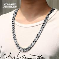 13 мм мужские Майами кубинский цепь ожерелье полный Bling ледяной CZ стразы Серебро Золотой цвет ювелирные изделия рэппер ожерелья V191129