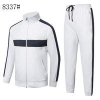 2021 Осенняя мужская полная Zip Coussusit Мужчины спортивный костюм белый дешевые мужчины толстовка и брюки костюм капюшон и брюки набор спортивных спортивных трекселей
