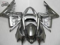 Свободный заказ ABS обтекатель наборов для Kawasaki Ninja ZX10R 2004 2005 серебристого мотоцикл обтекатели комплектов ZX10R 04 05 ZX 10R 04-05