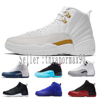 12 12s Basketball Shoes For Men 2019 New Gym Red Michigan Co...