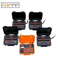 CE bestanden + DHL / FedEx Freies Verschiffen +96 Bues wiederaufladbar 300m ~ 500m Remote Fireworks Brennsystem, dbr02-x24-96