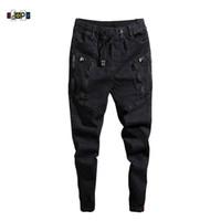 Джинсы-джоггеры с манжетами и завязкой для мужчин Idopy Fashion Mens Trend