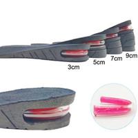 3-9cm Высота Увеличение Стельки с воздушной подушке Высота подъема Регулируемая Cut обуви пятки Вставка Taller Поддержка абсорбент ног Pad