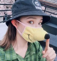 Moda 3D Funny Face mask cartone animato animale maschere antipolvere traspirante viso protettiva riutilizzabile lavabile maschera bocca KKA7953