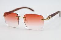 2020 무료 배송 8300816 개 스타일 안경 골드 나무 무테 선글라스 남여 장식 빛 컬러 렌즈 운전 안경 크기 : 54-18-140mm