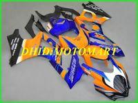 kit de carenado de la motocicleta para SUZUKI GSXR1000 K7 07 08 GSXR 1000 2007 2008 ABS azul naranja conjunto de carenados + regalos SBC17