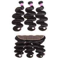 Dilys Body Wave Hair Bundles With Ear to Ear Hair Closure Br...