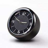 Automobile luminosa orologio dashboard clock clock car ventivari di quarz orologi mini, decorazione perfetta per auto, SUV e MPV (nero)